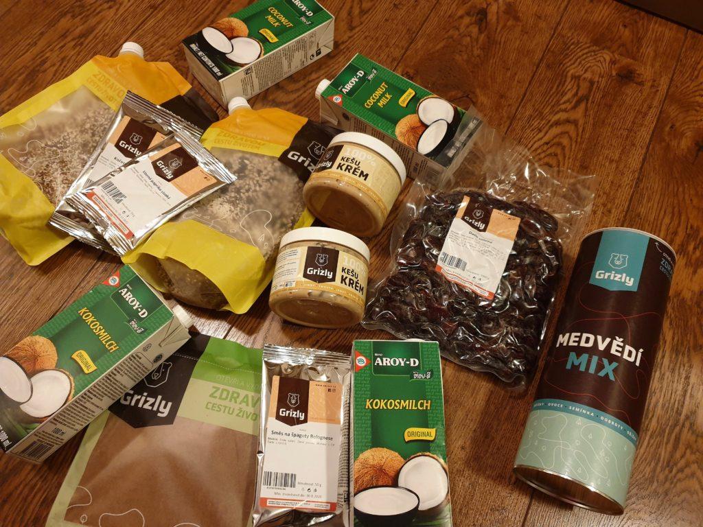 zkušenosti s nákupem - ořechy, kokosové mléko, semínka, ořechové máslo, datle, skořice
