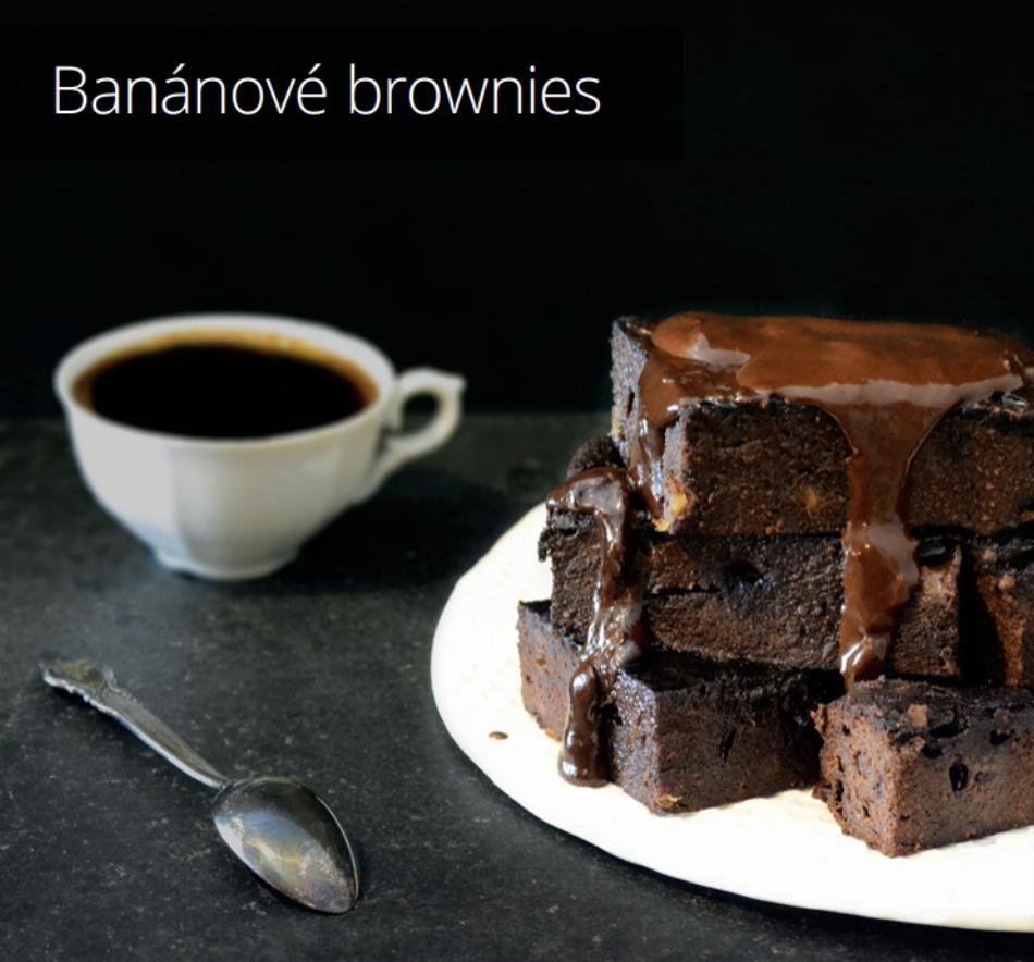 Banánové brownies - recept